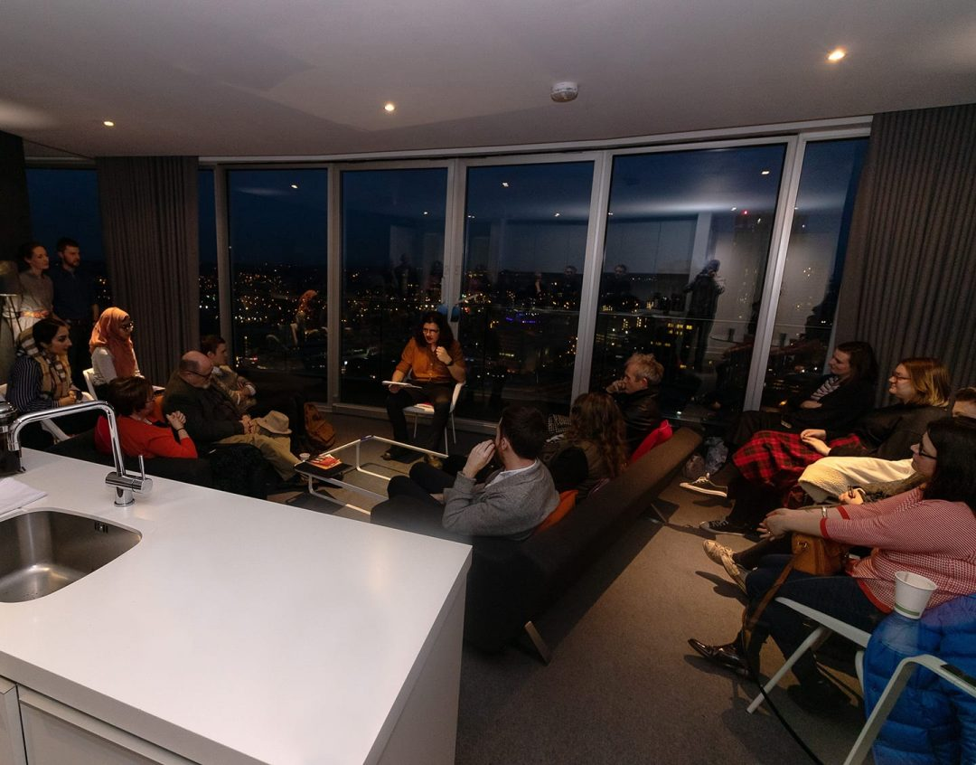 Poetry in the Penthouse event at Rotunda