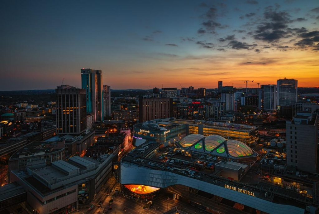 Birmingham at night from Staying Cool penthouse serviced apartment by Chris Fletcher photography