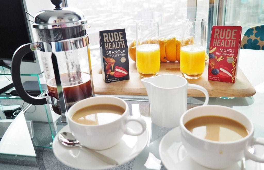 Rotunda-Serviced Apartments Breakfast Tea and Juice
