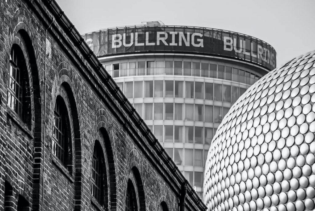 Staying cool's apart hotel at rotunda between old railway brickwork and modern Selfridges Birmingham taken by photographer jayjayjjetski