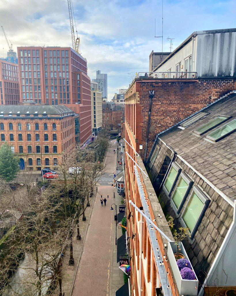 Rooftop view of Canal Street Manchester
