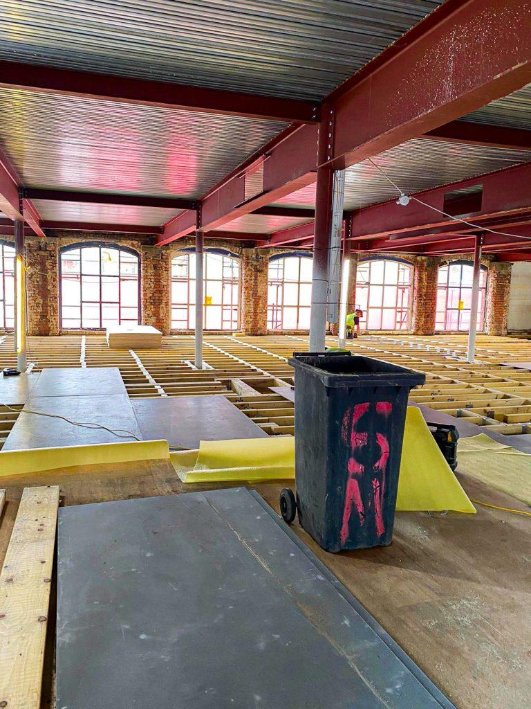 Cotton Yard Interior - structual flooring