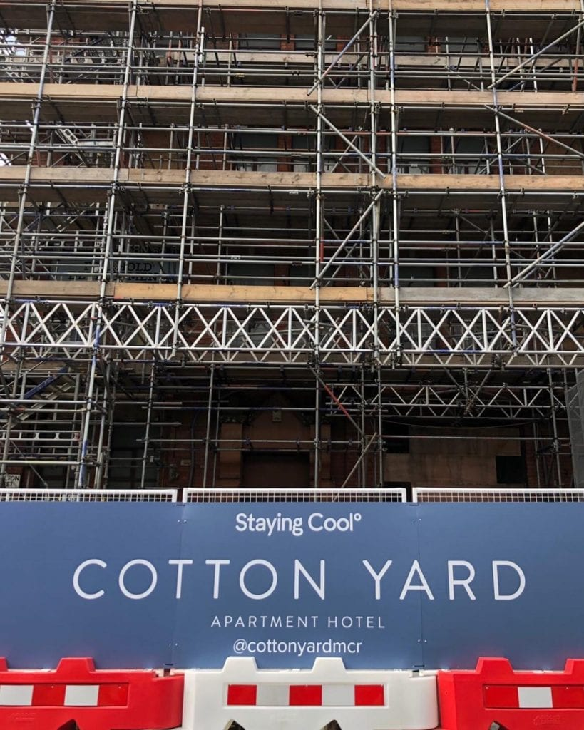 Cotton Yard Hoarding Signage