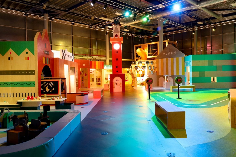The gallery at MiniBrum Exhibition at Thinktank Birmingham