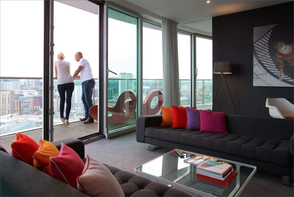 Enjoy the views and a bottle of Champagne after dropping off your soon-to-be student at university in Birmingham