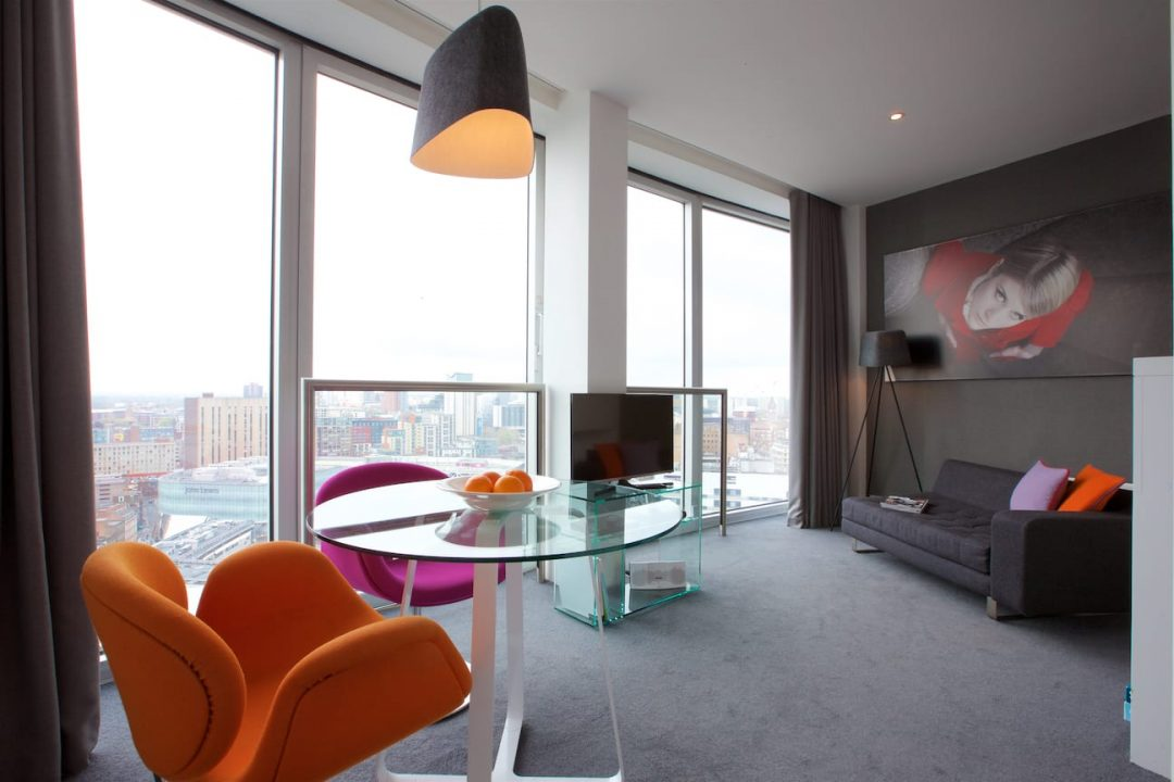 Staying Cool's Mini studio apartment lounge with view