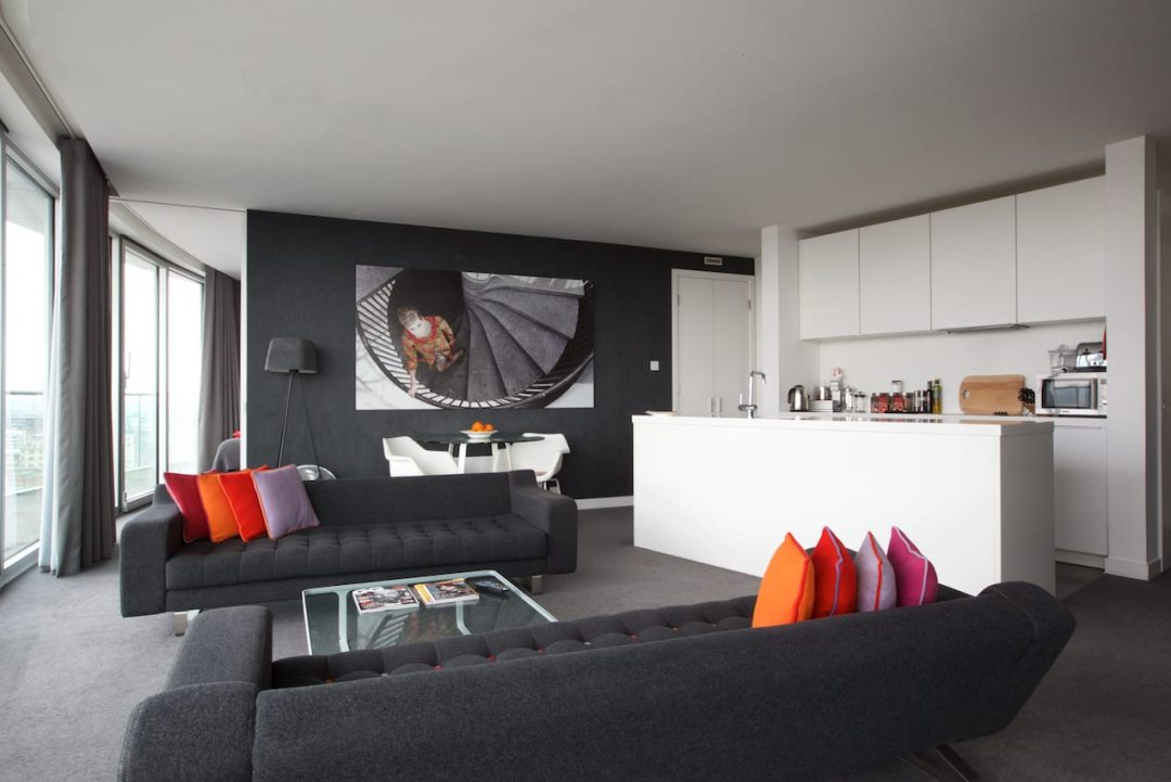 Living space in Penthouse apartment at Rotunda