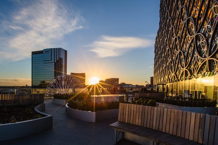 Birmingham city at dawn