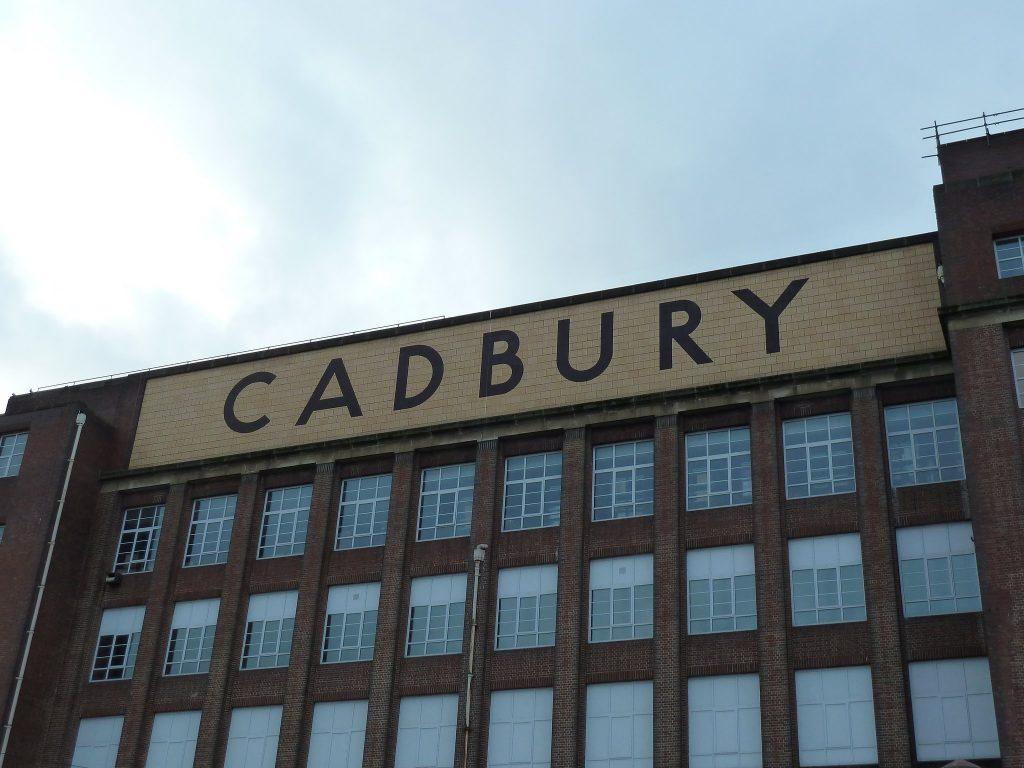 Historic lettering on Cadbury building Birmingham