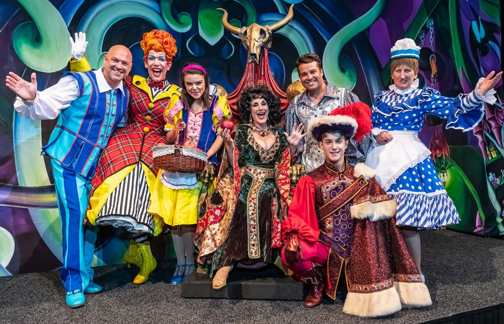 Image of panto cast at Birmingham Hippodrome