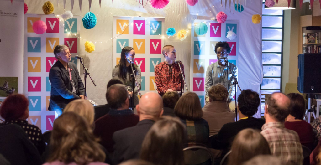 Image of four people on stage at Verve 2019