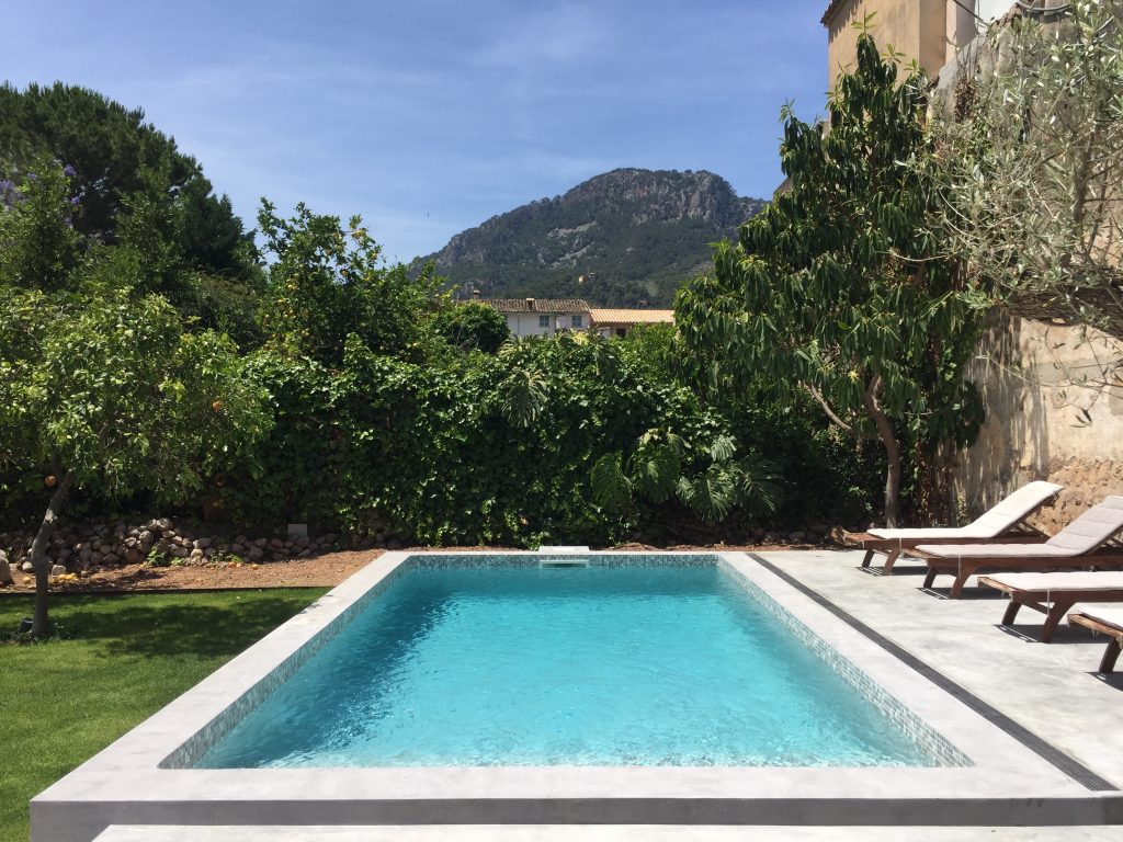 Poolside views from Soller Townhouse