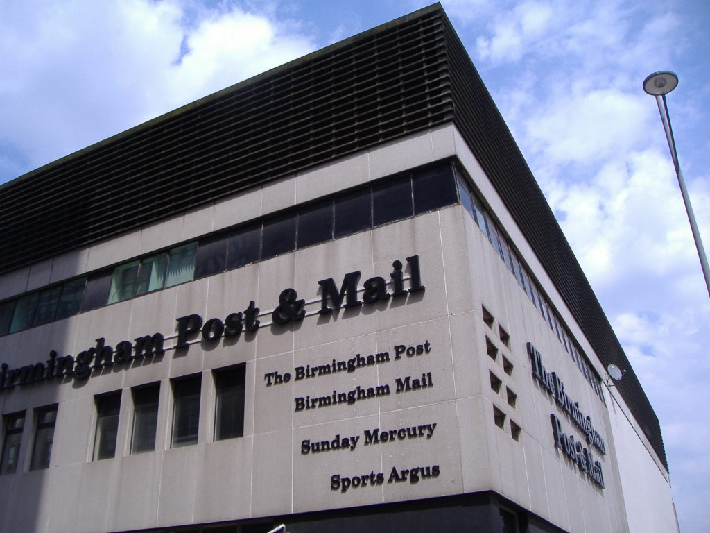Birmingham Post and Mail building in central Birmingham