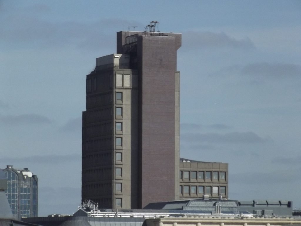brutalist designed building in Birmingham