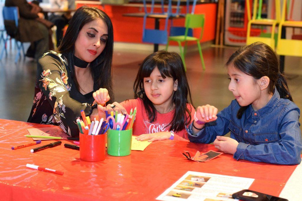 Children enjoying Creativity programme at Birmingham Museum and Art Gallery
