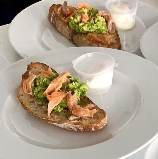 Wilderness smoked trout breakfast dish