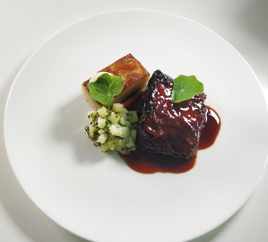 Wilderness beef course dish