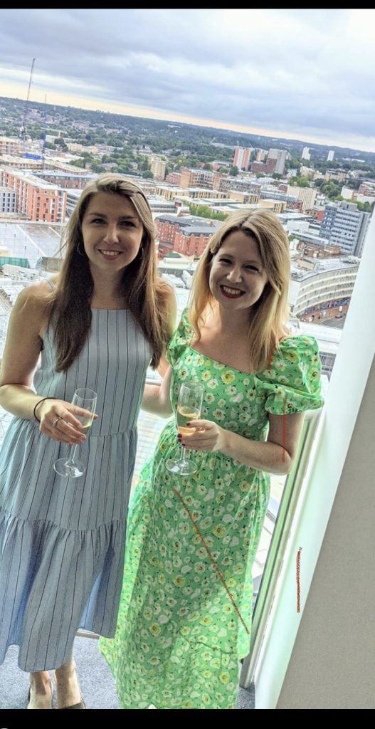 wilderness dining experience guests enjoying the views of Birmingham from their Rotunda serviced apartment.