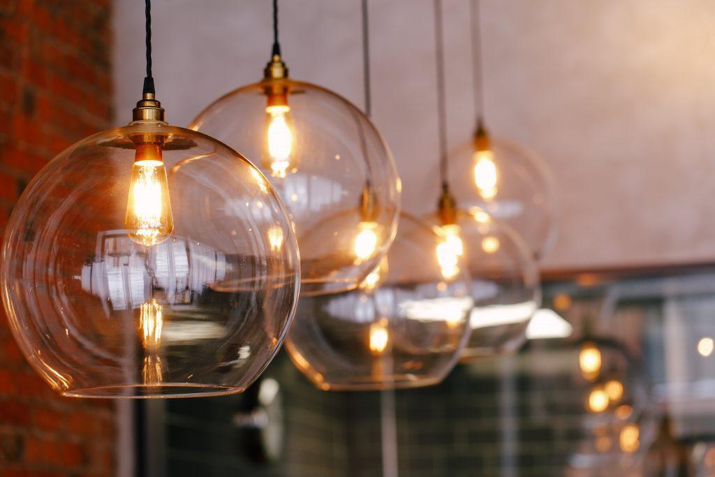 interior lighting at Folium Restaurant