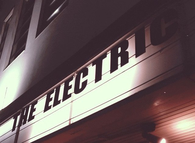 Frontage of the Electric Cinema by night in Birmingham