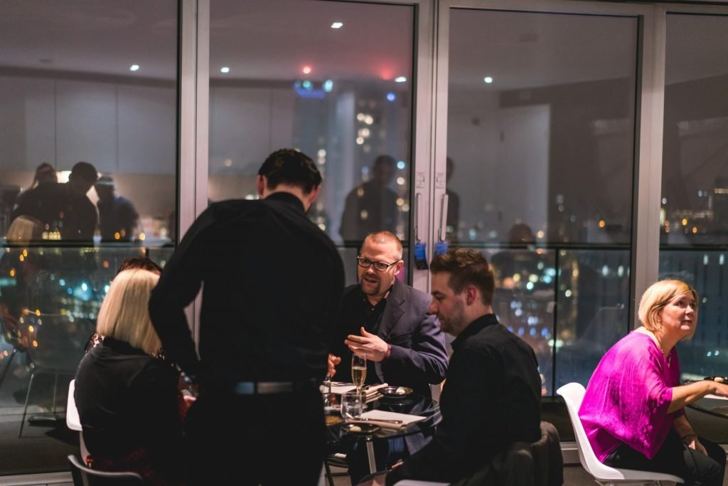 The Wilderness private dining event as part of Staying Cool's Creative Heights programme