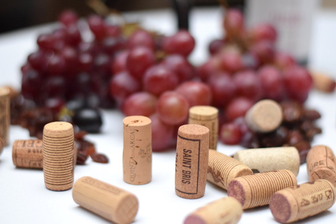 Wine-Corks-Grapes for the Birmingham Wine Weekend 2020