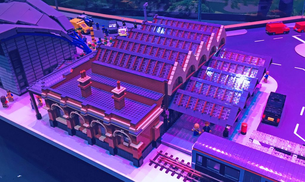 A lego replica of Birmingham's Moor Street Station from Legoland Discovery Centre in Birmingham.