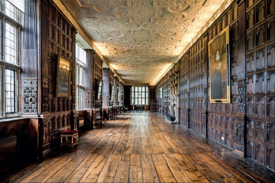 Interior hallway shot taken inside Aston Hall in Birmingham.