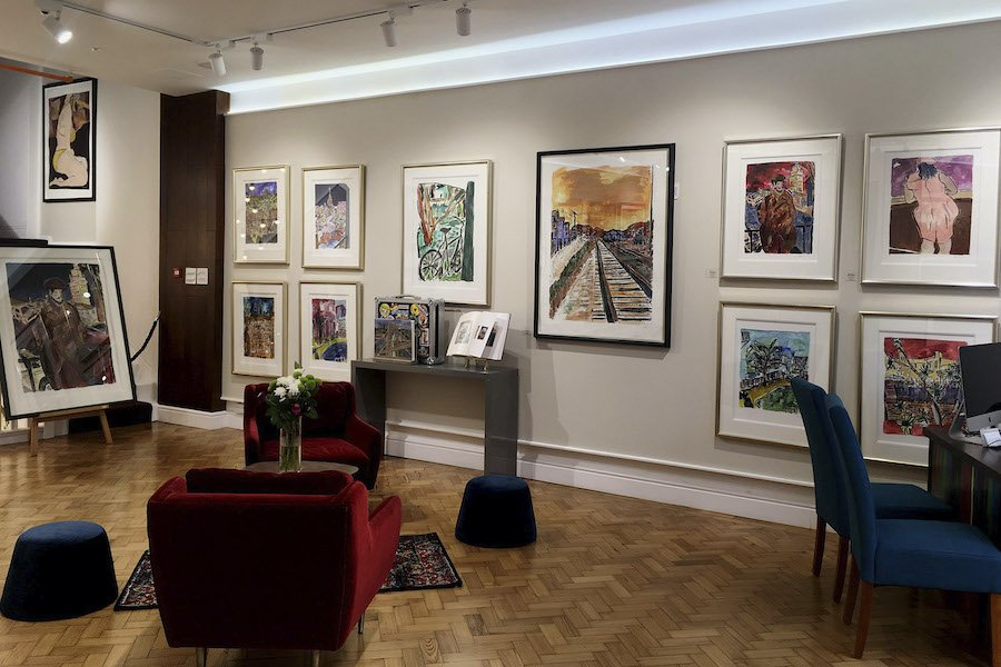 Bob Dylan exhibition at Castle Fine Art Gallery, located in the Mailbox, a short walk from Staying Cool's Rotunda apart hotel