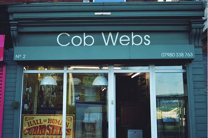 The entrance to Cob Webs in Stirchley Birmingham. A 15 minute drive from Staying Cool's Rotunda apart hotel.